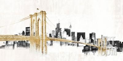 Skyline Crossing Art Print by Avery Tillmon at Art.com