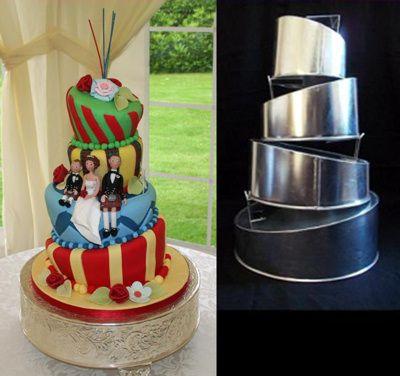 Good Topsy Turvy Wedding Cake Tin