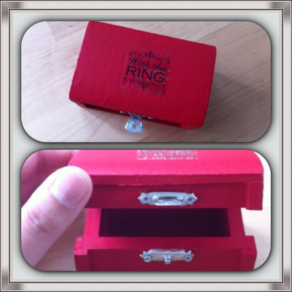 Wedding ring box instead of a pillow