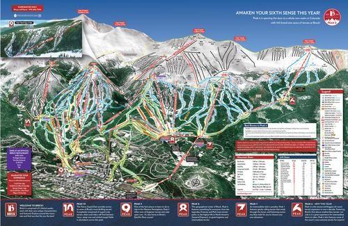 Breckenridge Releases New Trail Map, Peak 6 Looks Fun!   ski ...