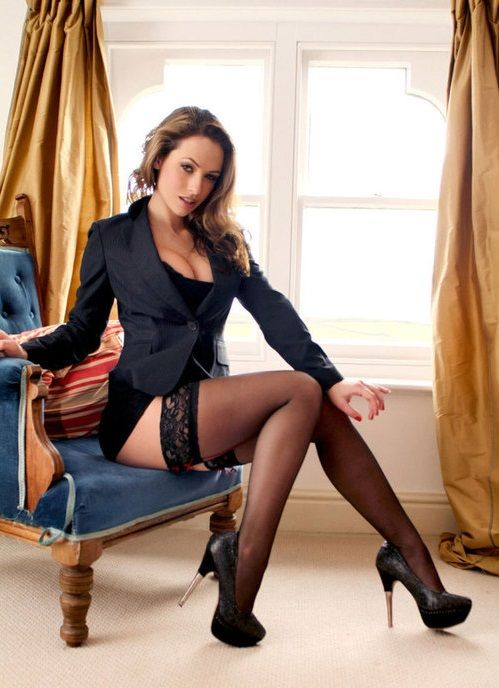 stockings in high heels