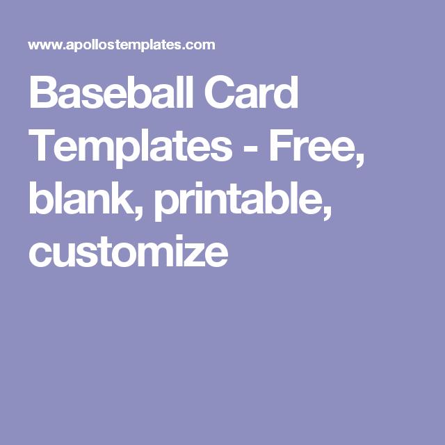 blank baseball card template