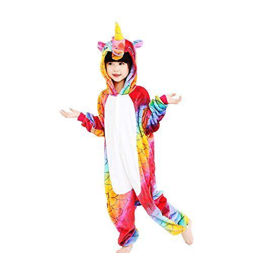 c73cab8900df4a Crazy lin Unicorn Karikatur Overalls Pyjama Nachtwäsche Nacht Kleidung  Dress Up Maskerade Partei Kostüme (125CM