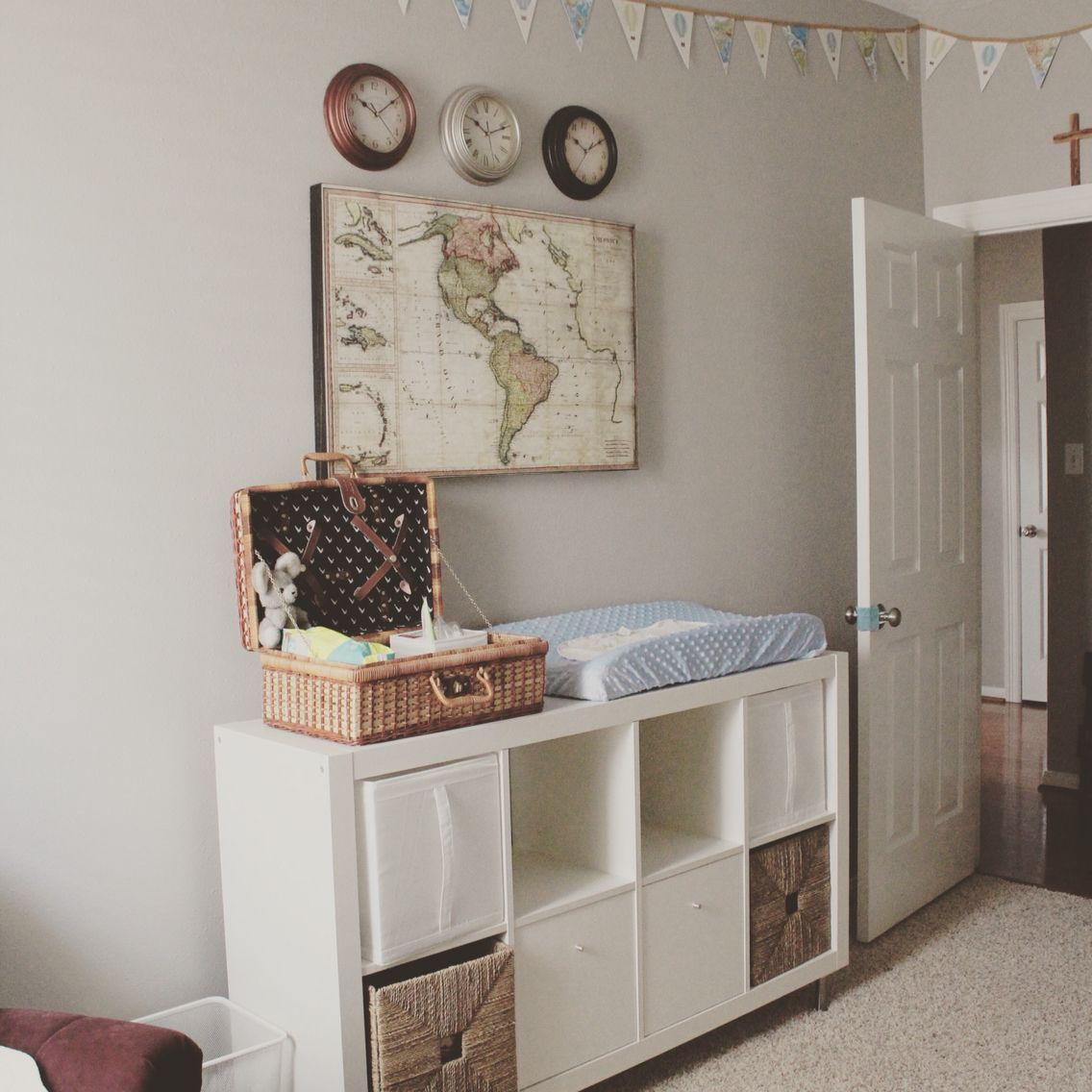 Themes For Baby Room: Baby Boy Nursery Travel And Mission Theme