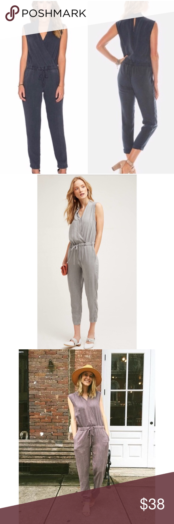 93bf7598948 Anthropologie Cloth   Stone Mignon Jumpsuit M Purchased from Anthropologie  and worn twice! This is a great piece but I have to make room in my tiny  closet.