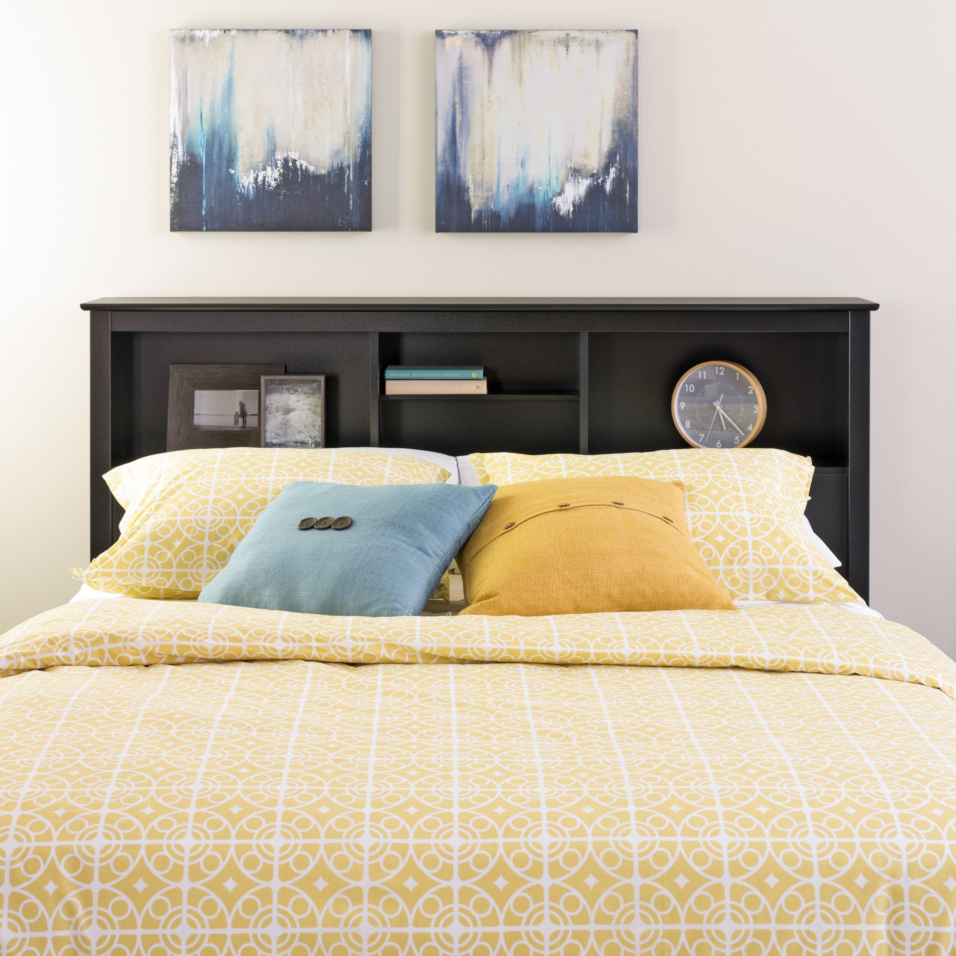 bookcase headboard small space solutions pinterest bookcase