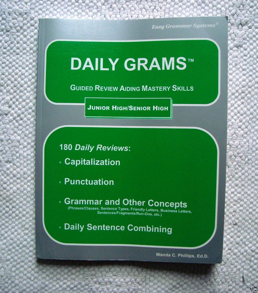 Easy grammar daily grams workbookanswer key jrsenior high wanda easy grammar daily grams workbookanswer key jrsenior high wanda phillips textbookbundlekit fandeluxe Image collections
