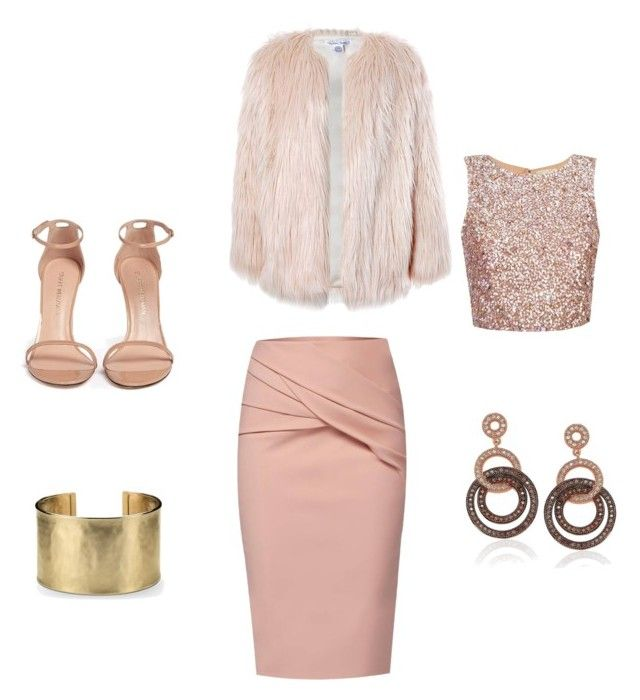 """Untitled #4"" by crinutacrinuta on Polyvore featuring WtR, Sans Souci, Stuart Weitzman, Suzy Levian and Blue Nile"