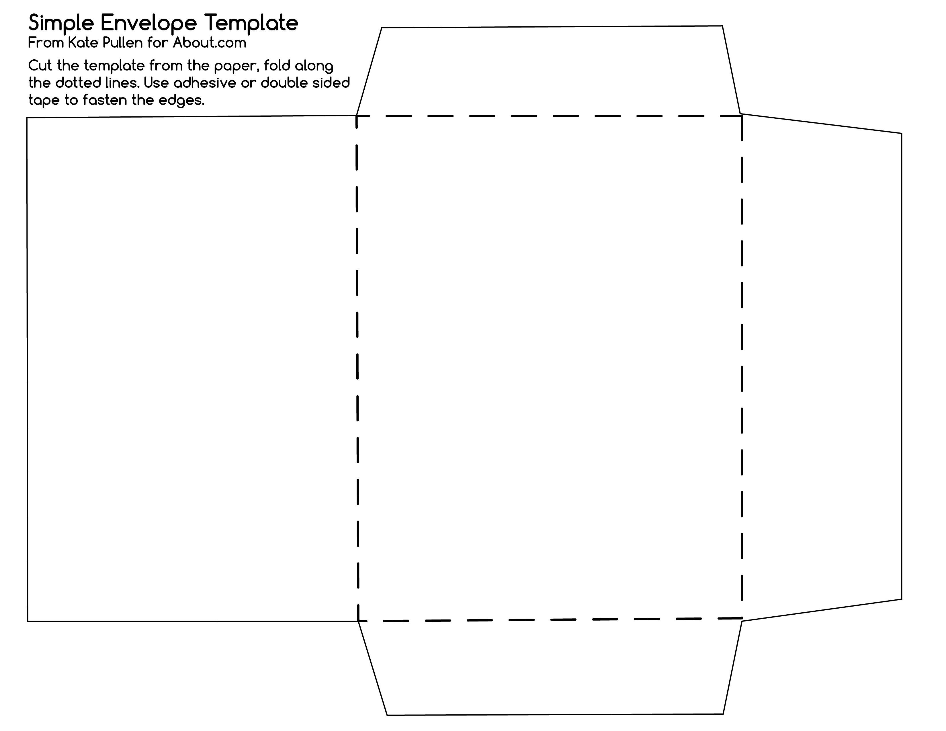 Free Printable Templates  Envelopes Template And Diy Envelope