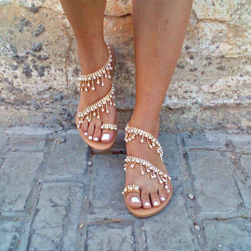 Women Sandals Bling Crystal Summer