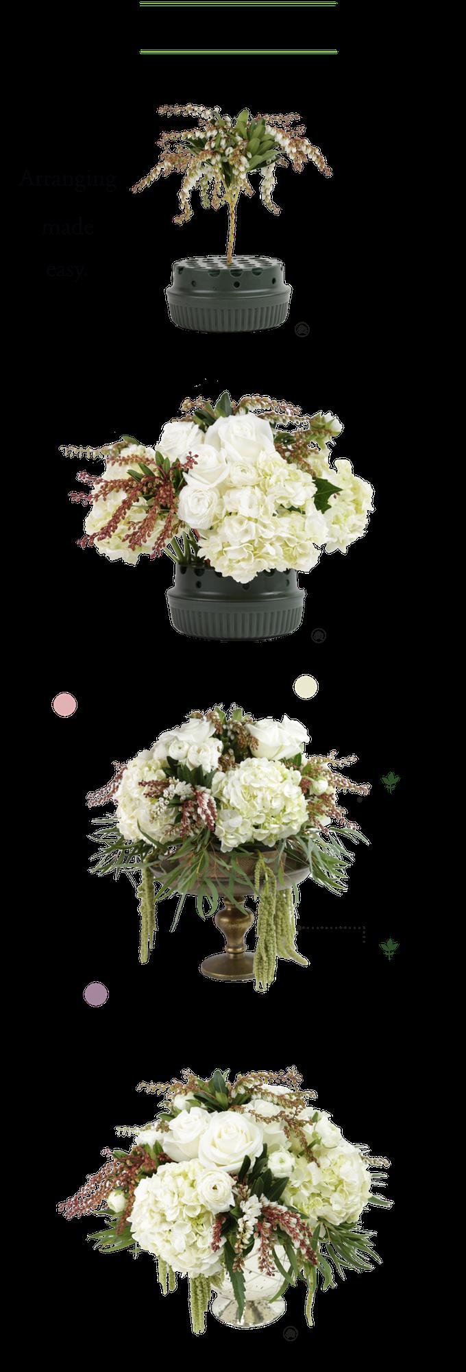 A reusable do it yourself flower arranging kit with step by step a reusable do it yourself flower arranging kit with step by christmas centerpiecesfloral solutioingenieria Gallery