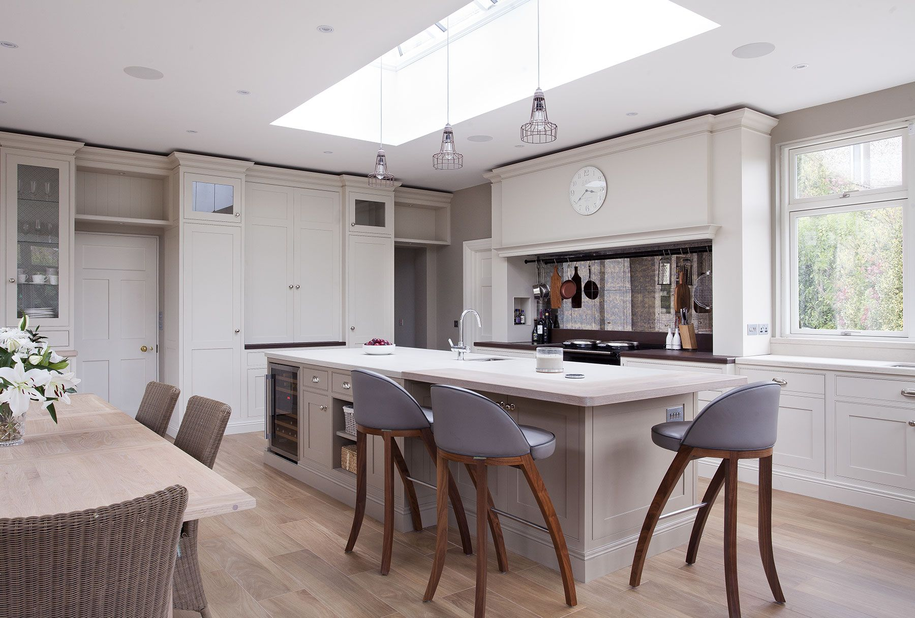 A luxury kitchen design Ireland expertly handcrafted using