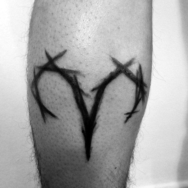 75 Widder Tattoos Fur Manner Zodiac Ink Design Ideen Tattoo
