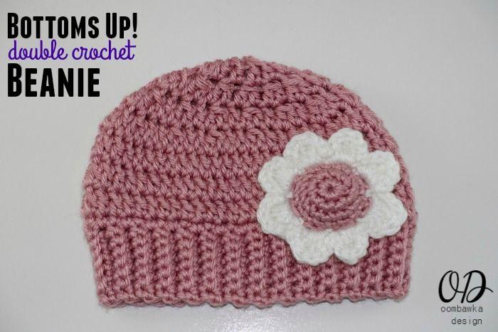 8ecca934f Bottoms Up DC Beanie Crochet Pattern. Sizes Preemie to Adult.