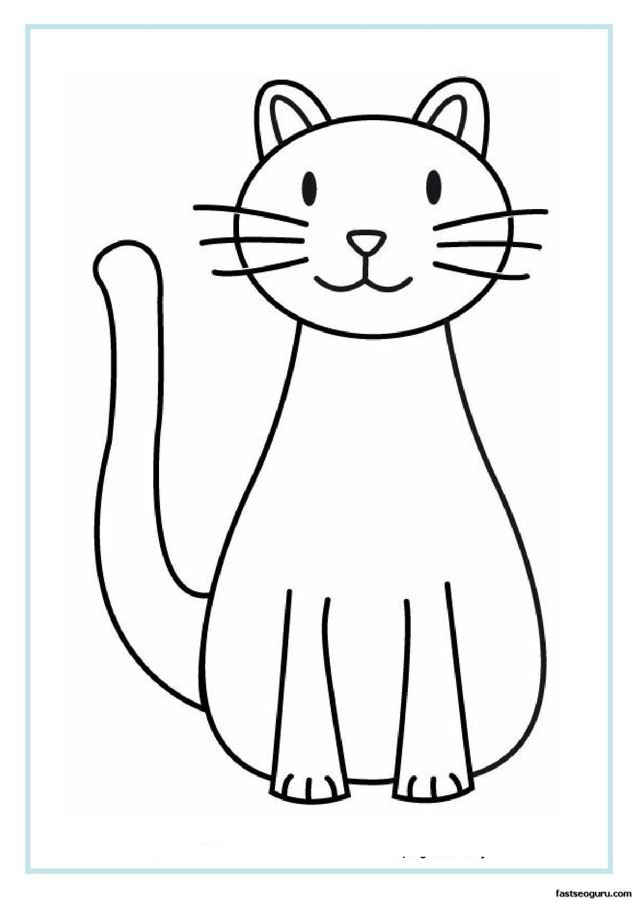 Printable Cat coloring pages for kids Dibujos