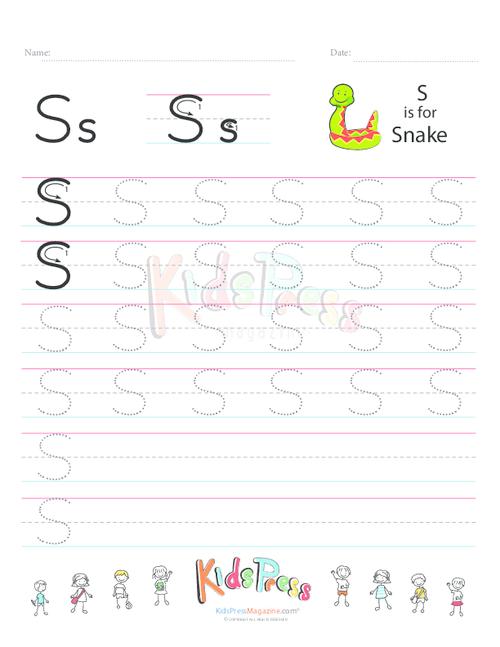 Handwriting Worksheet Letter S Handwriting Worksheets Worksheets