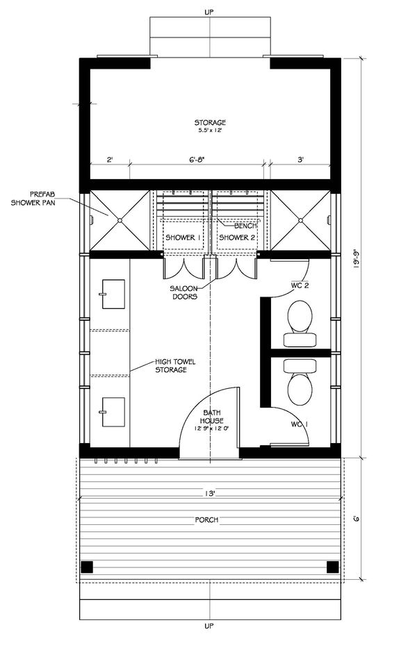 Pool house farmhouse style house plan 0 beds 1 baths for 150 sq ft