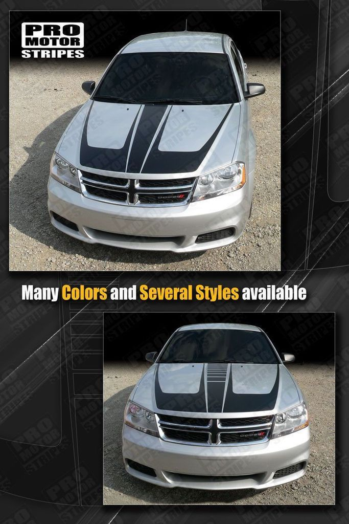 Dodge Charger Scallop Hood Accent Stripes Decals 2011 2012 2013 2014 Pro Motor