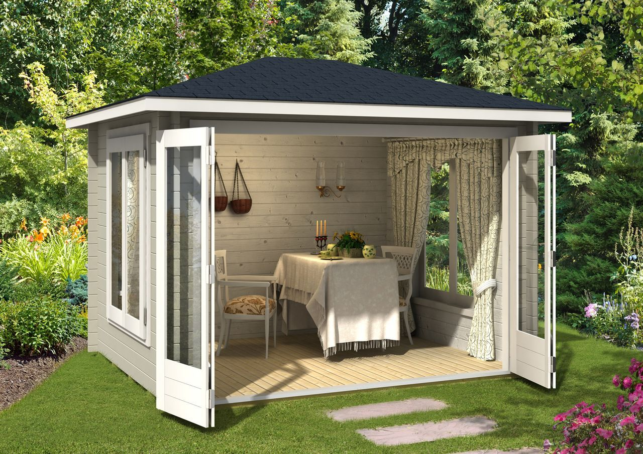 gartenhaus summertime 40 mit gro er faltt r in 2019. Black Bedroom Furniture Sets. Home Design Ideas