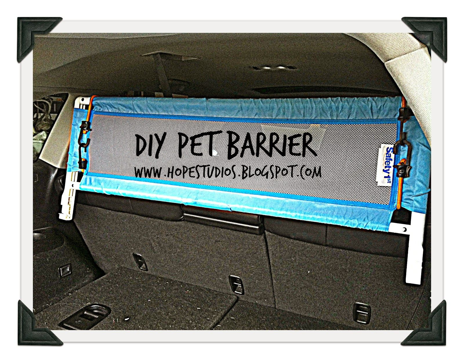 hope studios last minute pet barrier for suv crafty stuff diy pet barrier car pet. Black Bedroom Furniture Sets. Home Design Ideas