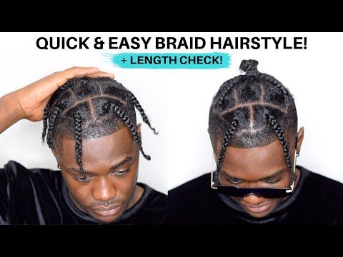 men's braid hairstyle for black hair  quick  easy for