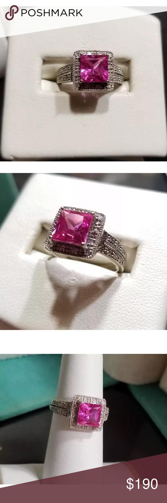 10k Clyde Duneier Cid Pink Sapphire Ring 10k Pink Sapphire Ring Womens Jewelry Rings Pink Sapphire