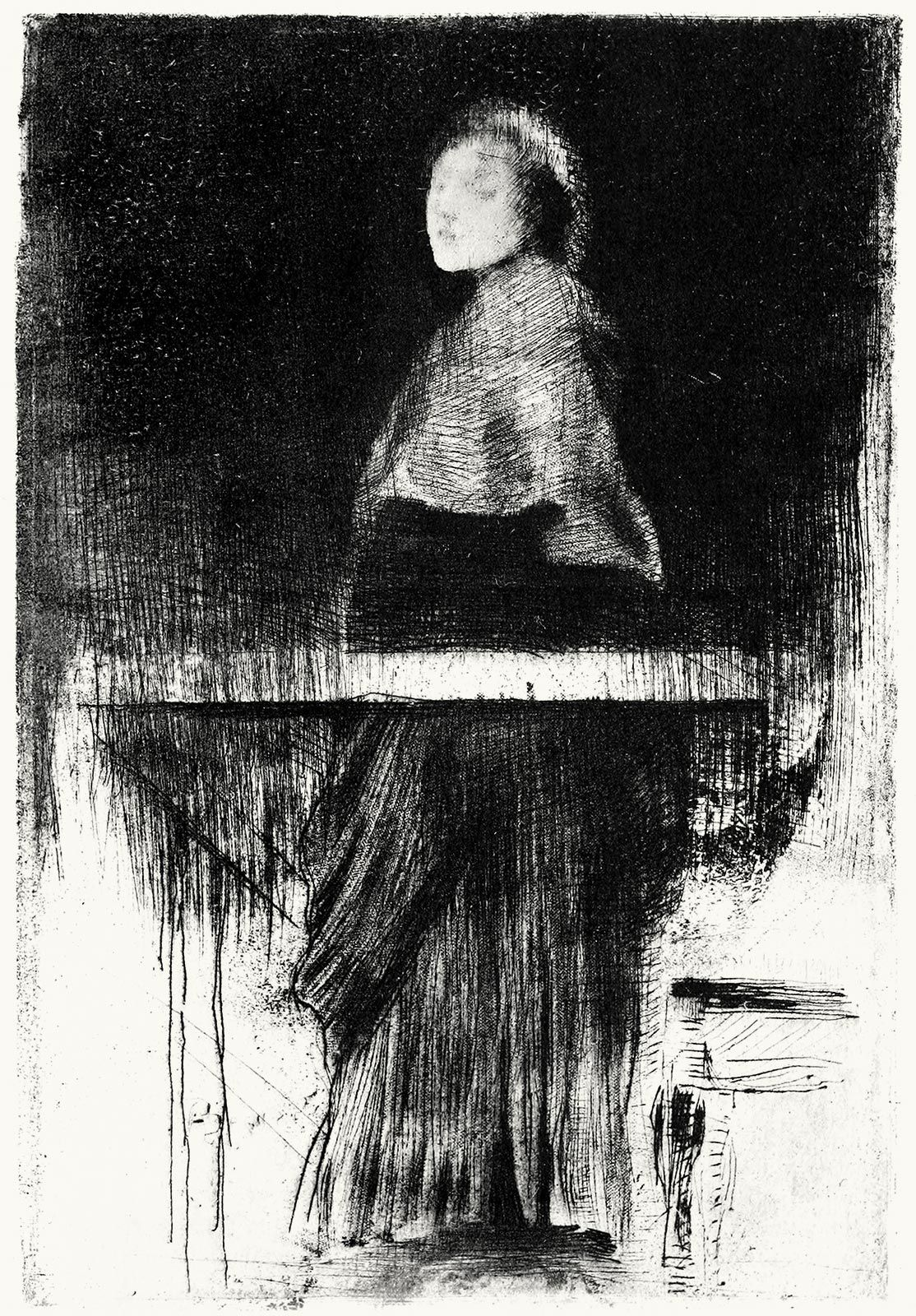 oldbookillustrations:    Woman with a cape.  Albert Besnard, From Les eaux-fortes de Besnard (The etchings of Besnard), by André-Charles Coppier, Paris, 1920.  (Source: archive.org)  Thank you oldbookillustrations.