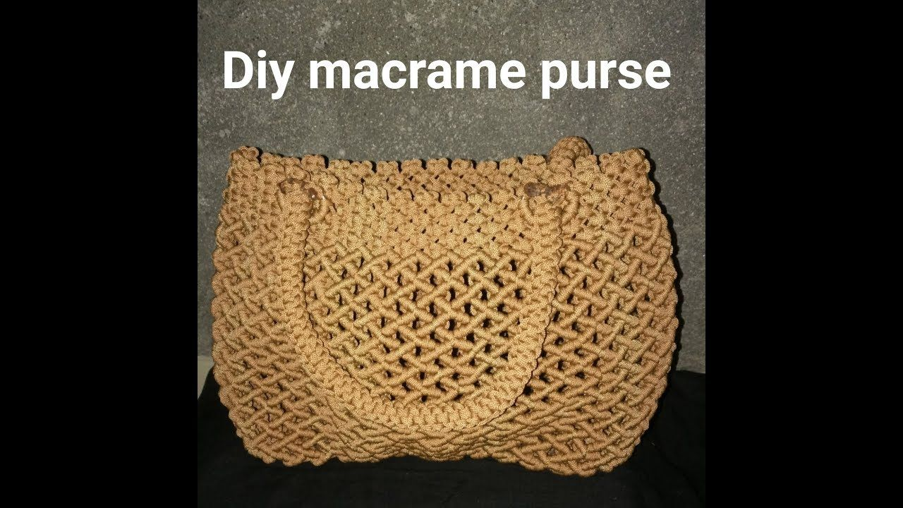 How To Make Macrame Purse Design 9 Youtube Macrame