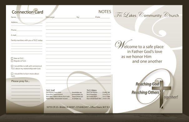 Sample Church Brochures Designs | Church bulletin for Tri Lakes ...