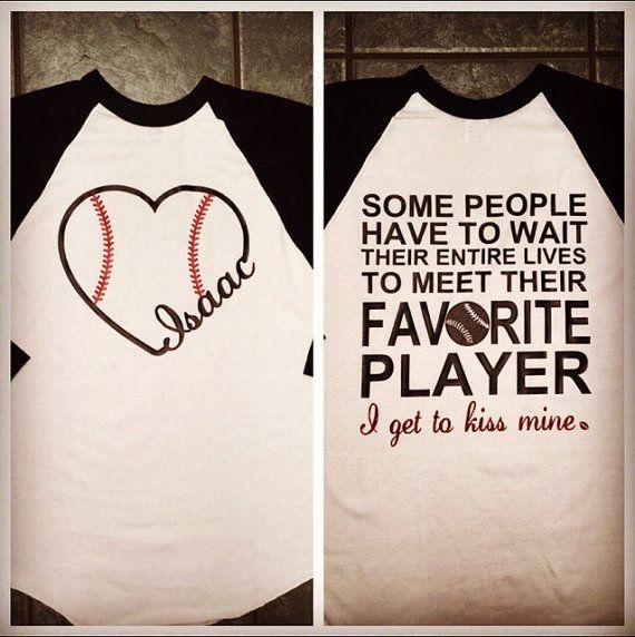 Baseball girlfriend by StudioChaseDesigns on Etsy | Stuff to ...
