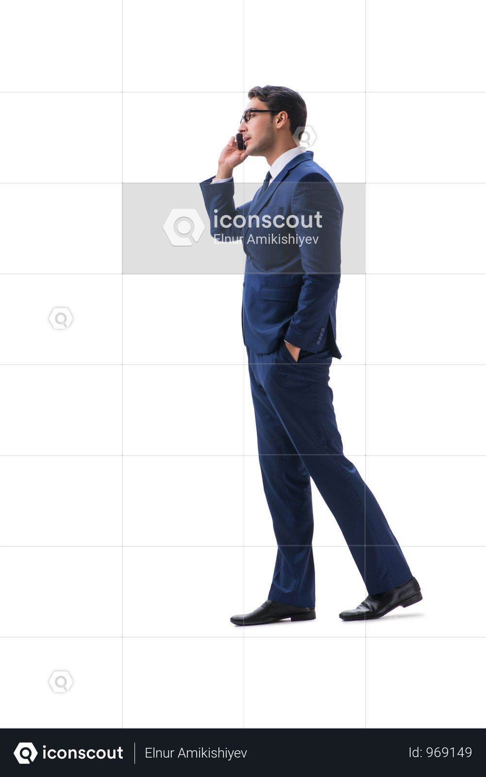 Premium Businessman Walking Standing Side View Isolated On White Backgro Photo Download In Png Jpg Format Walking Poses Business Man Side View