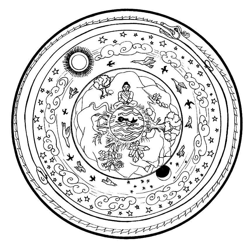 find this pin and more on ancient pangoatmen circle mandala coloring pages