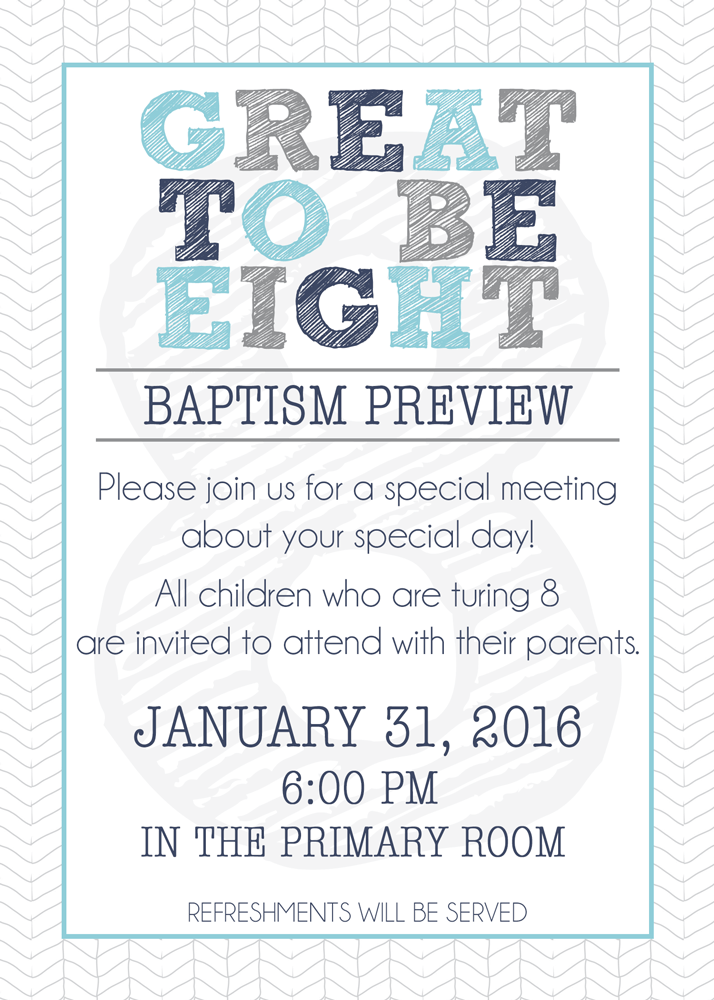 LDS Baptism Preview Invitation from | Pinterest | Invitaciones