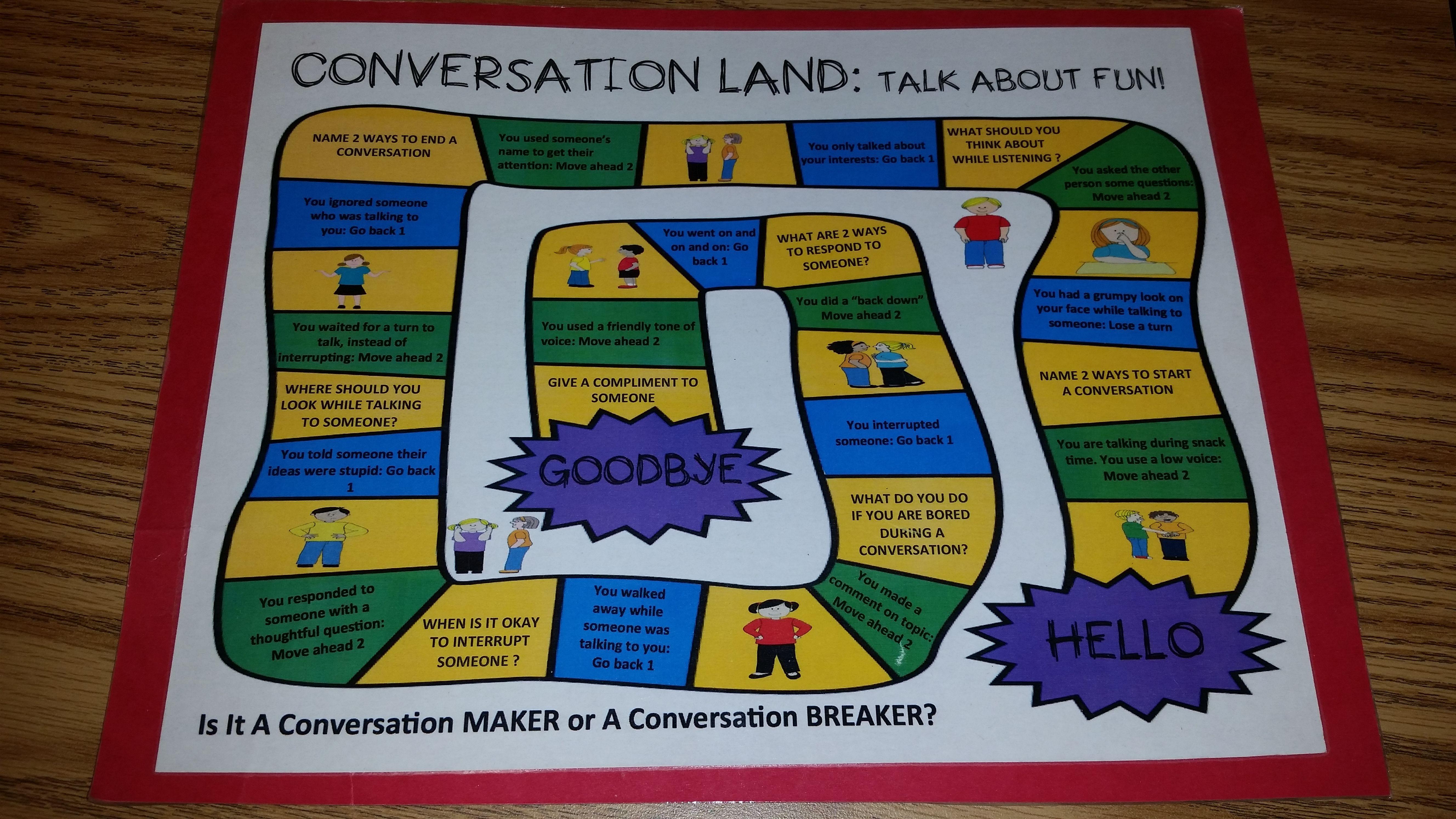 CONVERSATION BOARD GAMES 6 Differentiated Board Games