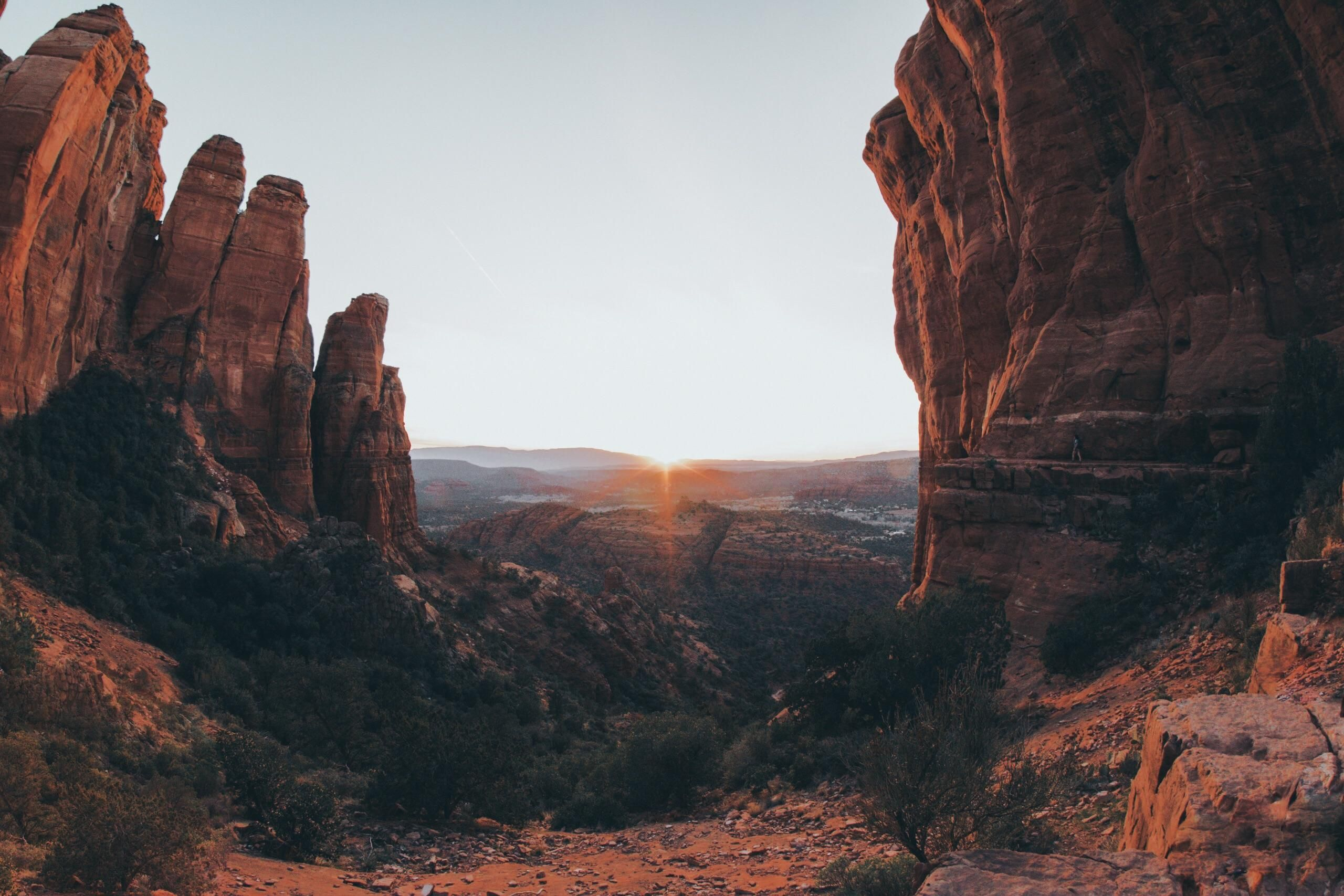 Sunset from Cathedral Rock in Sedona AZ [OC] [6000 x 4000]