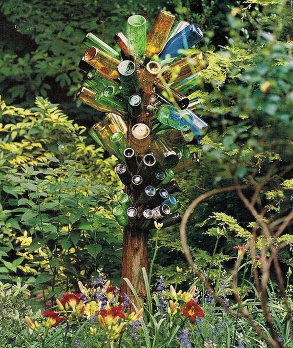 gartendeko selber machen mit glasflaschen   Garten/Balkon ...