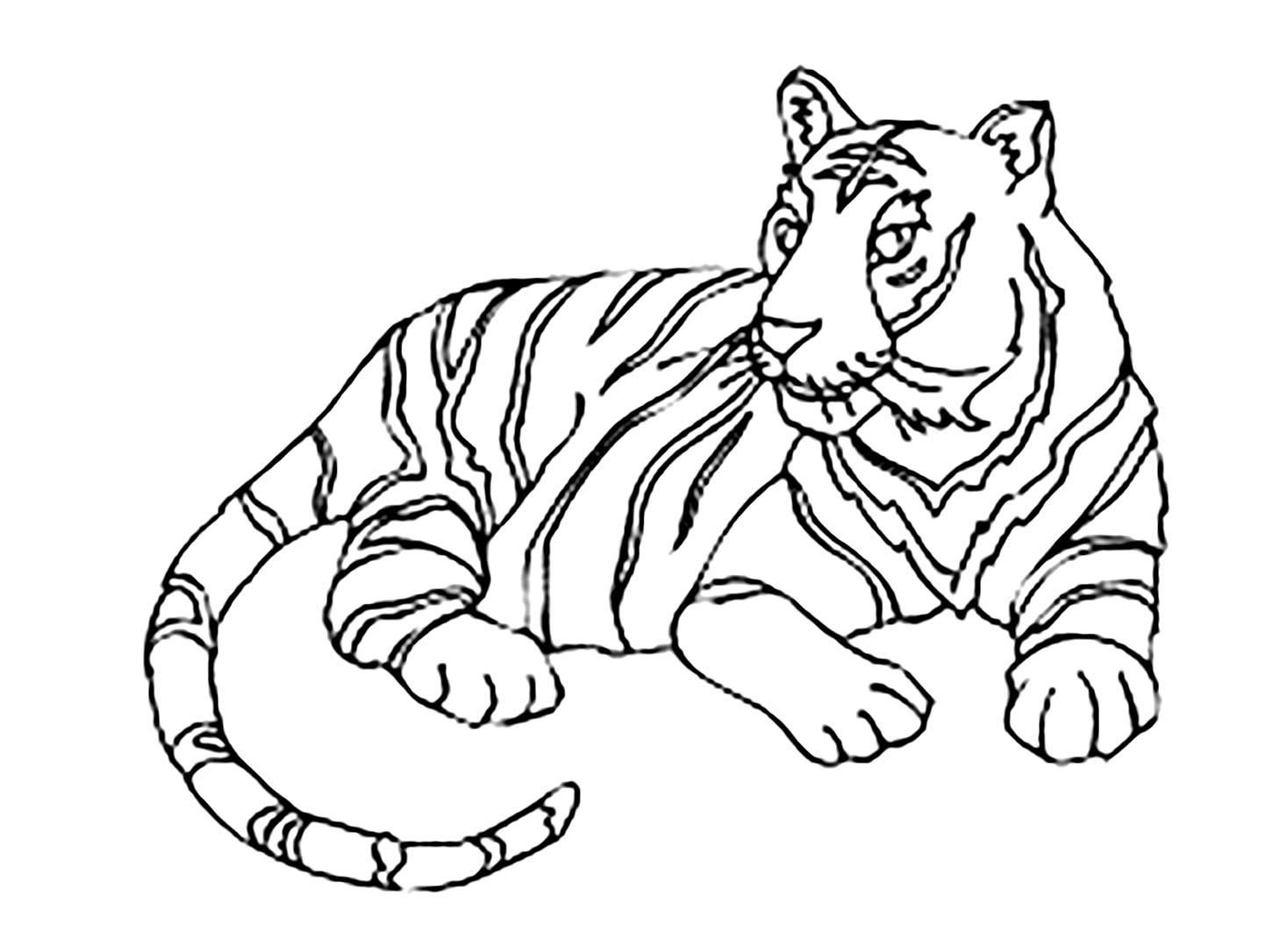 42 Coloring Page Tiger Animal Coloring Pages Shopkins Colouring Pages Coloring Pages