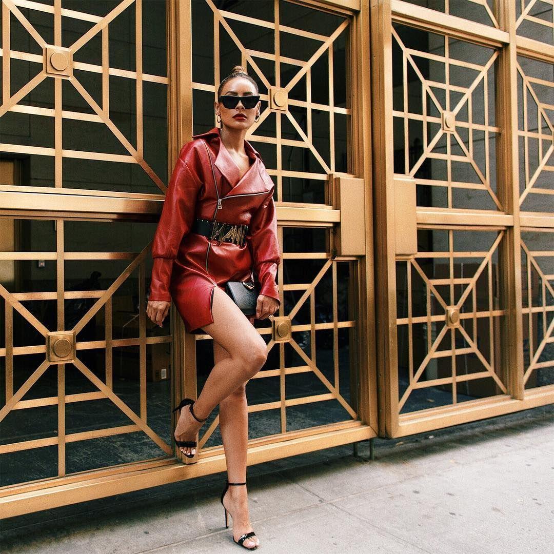 Pin by benedicte vandi on trend pinterest red leather dress