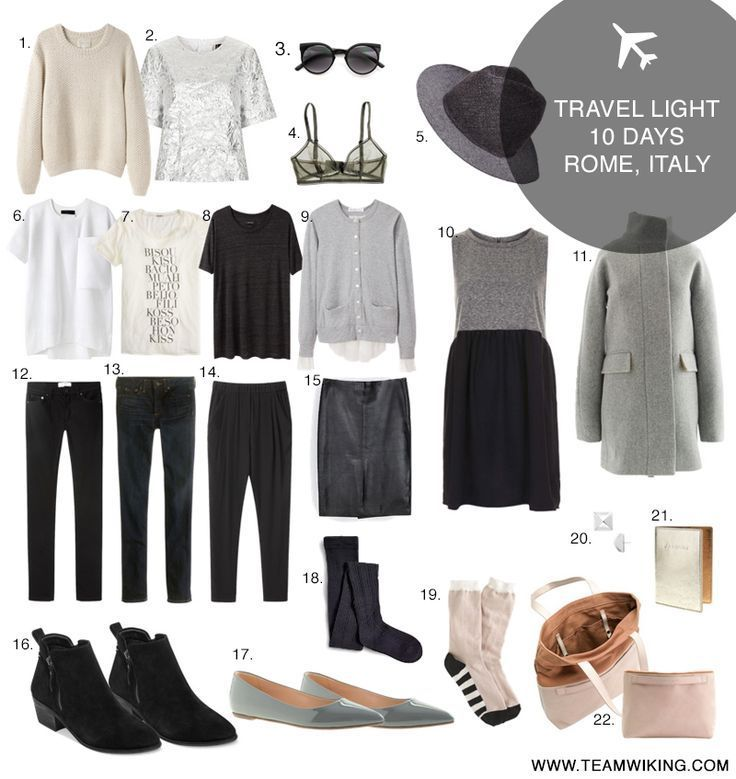 minimalist travel wardrobe. T-shirts with skinnies, sweaters, flats, and boots