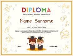 Preschool kids diploma certificate design template vector art preschool kids diploma certificate design template vector art illustration yelopaper Images