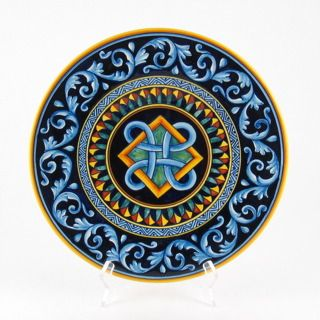 Geometrica decorative wall plate from Du0026G in Deruta Italy  sc 1 st  Pinterest & Deruta italian ceramic decoration - Geometric wall plate | Miniature ...