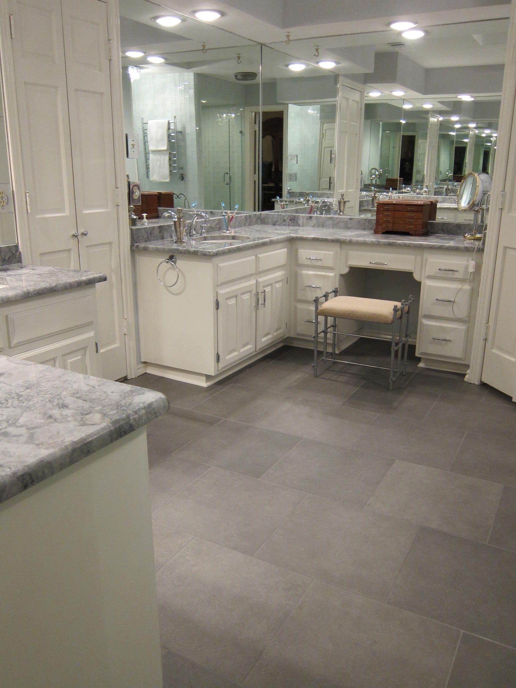 Granite Installed On Bathroom Vanity In This Bathroom Remodel - Bathroom remodeling burleson tx