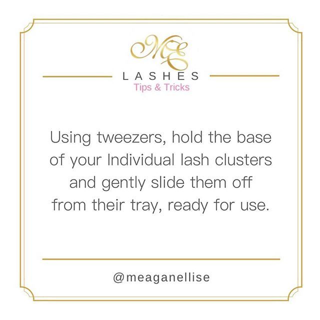#MeaganElliseIndividuals ✔️✨ #HowTo #BeautyTip #TipsandTricks #MeaganEllise #Makeup #Lashes #MeaganElliseLashes