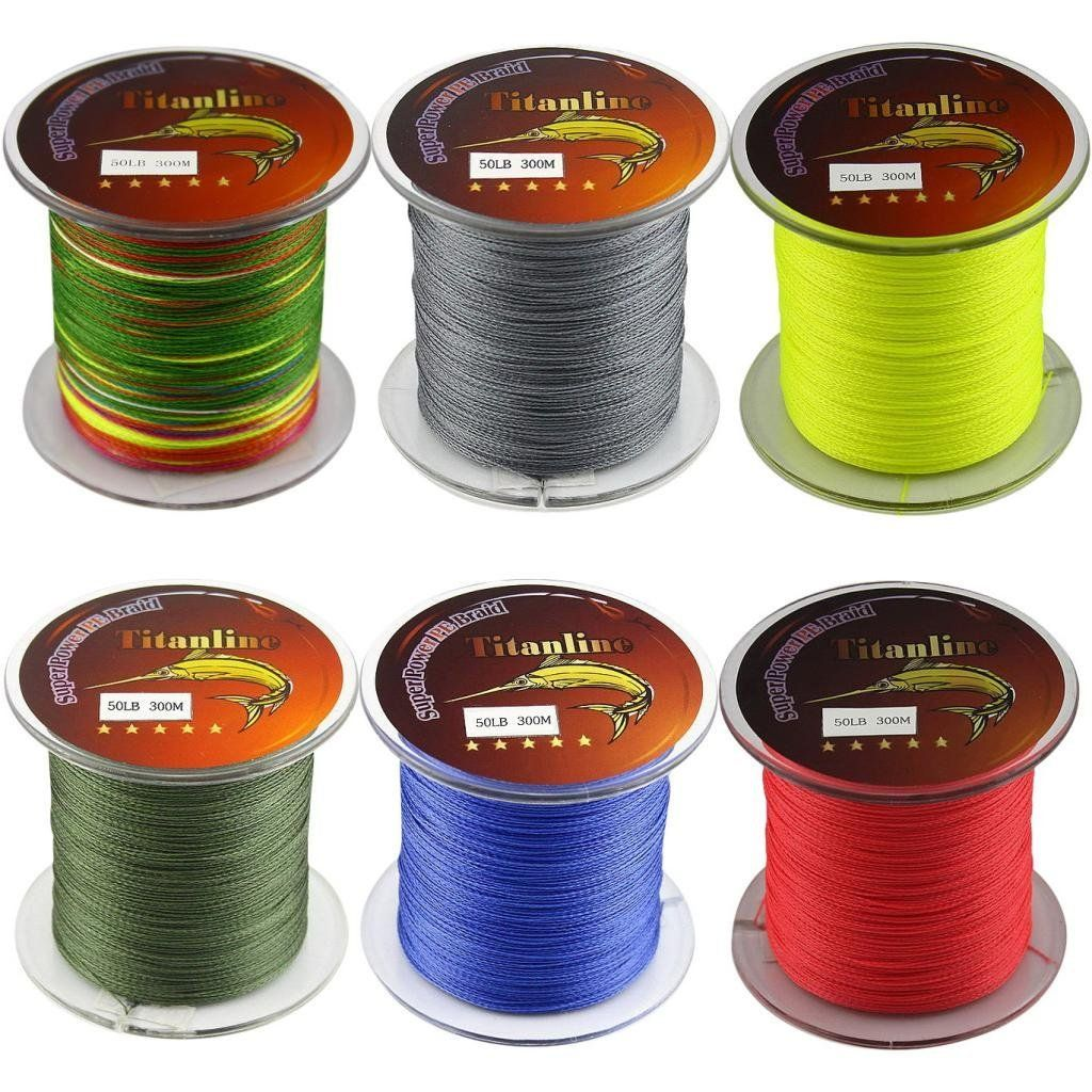 titanline 6pcs different colors high grade fiber pe briad