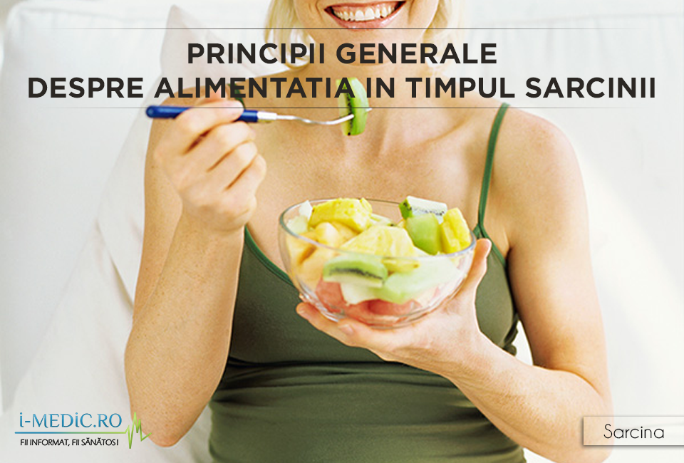 Cand esti insarcinata, ceea ce tu manaci si bei reprezinta principala sursa de substante nutritive pentru fat. Alimentatia in sarcina trebuie sa fie una echilibrata, sa cuprinda fructe si legume proaspete, lactate cu continut redus de grasimi, cereale integrale si alimente bogate in proteine. http://www.i-medic.ro/copilul/sarcina/alimentatia-timpul-sarcinii/principii-generale-despre-alimentatia-timpul-sarcinii