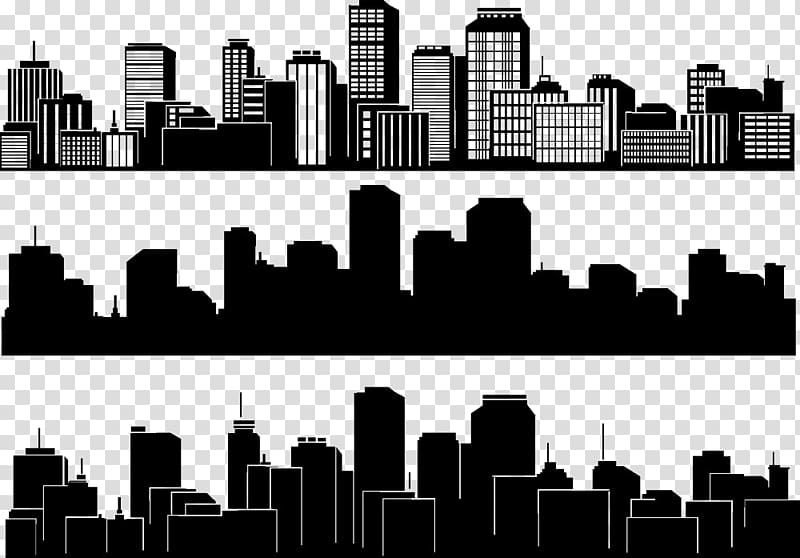 City Illustration Collage City Silhouette Skyline Building Black And White City Silhouette Transp Building Silhouette City Silhouette City Skyline Silhouette
