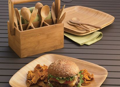 Bamboo plates and silverware...safe for you & Bamboo plates and silverware...safe for you | My Kitchen | Pinterest ...