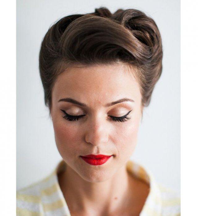 id e de chignon le chignon banane r tro hair styles hair styles wedding. Black Bedroom Furniture Sets. Home Design Ideas
