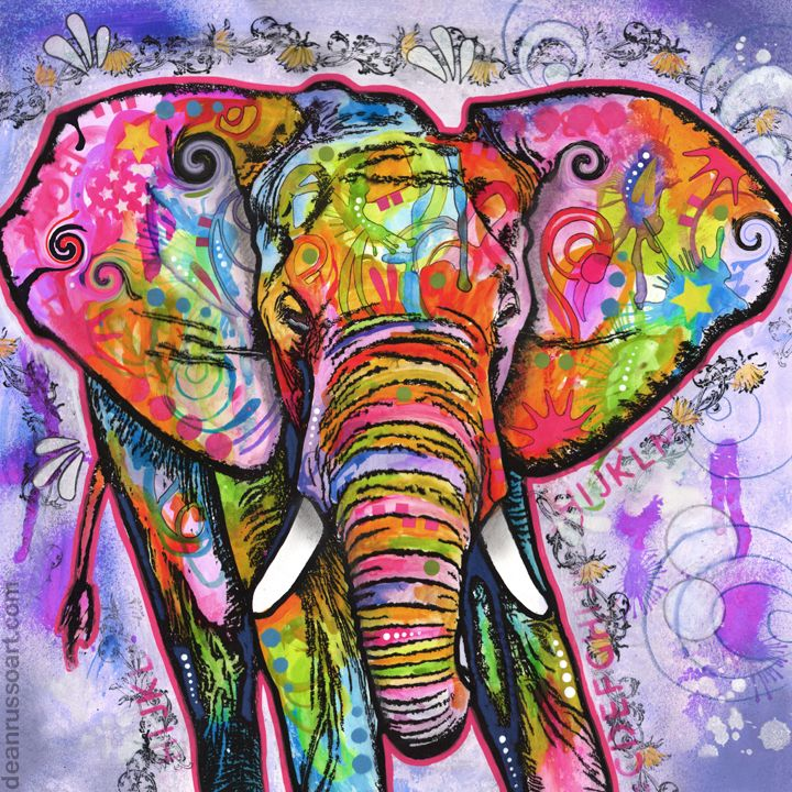 dean russo art u2014 elephant ii print on canvas - Dean Russo
