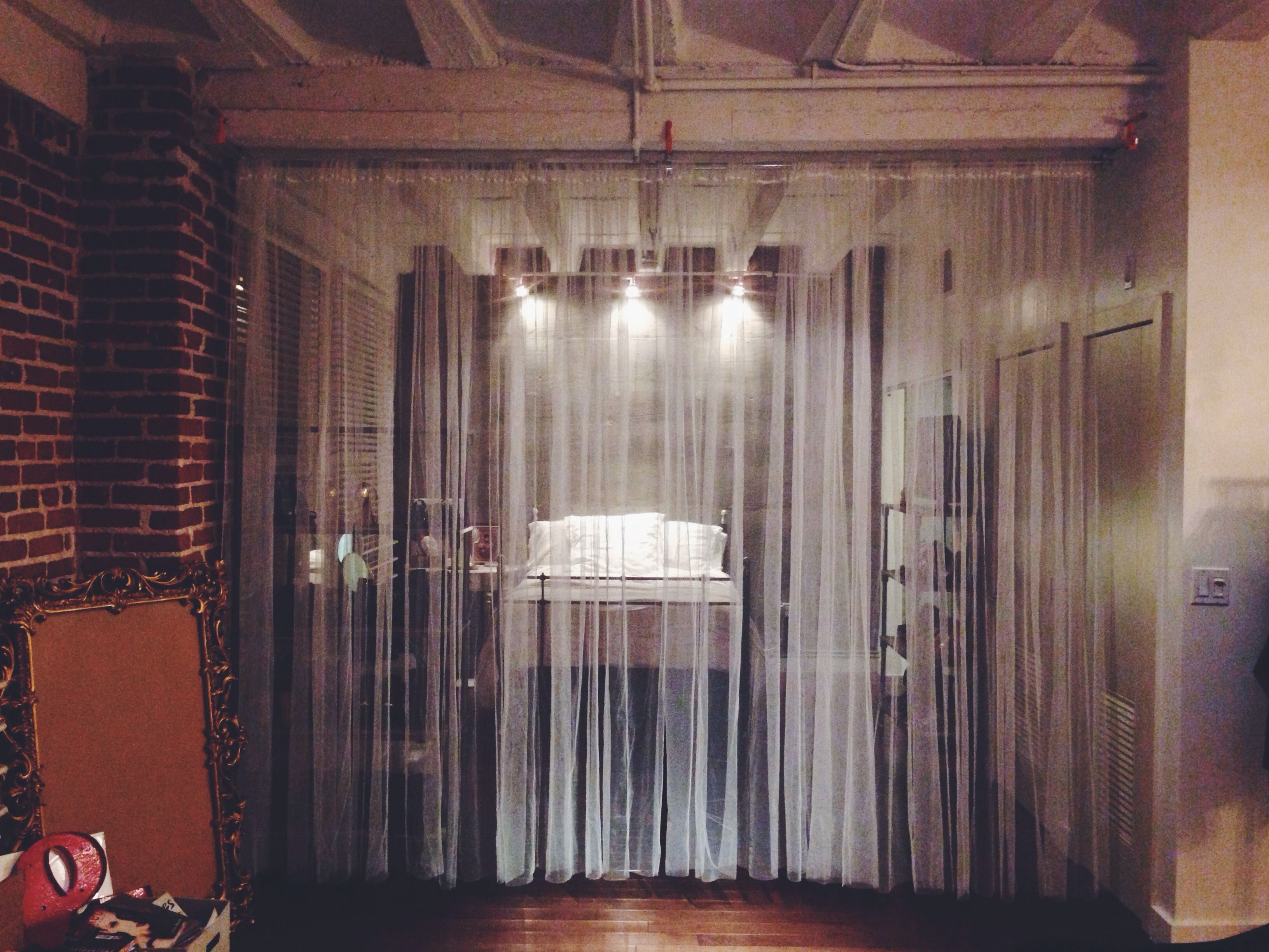 Diy dreamlike room divider using pipe u cclamps by claire marshall